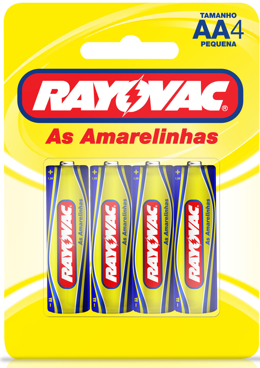 PILHA RAY AMARELINHAS PQ AA4 1X4(48)