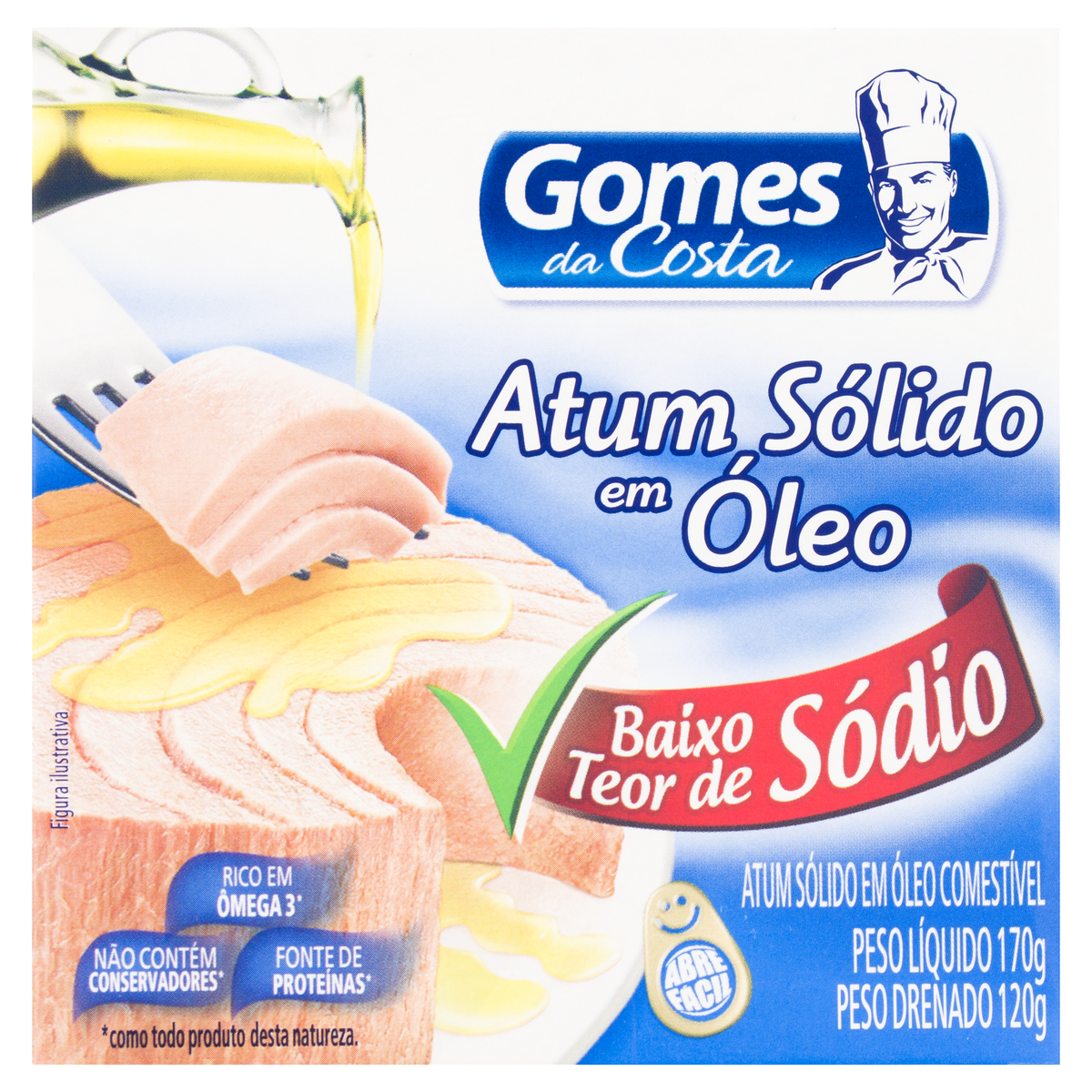 ATUM SOLIDO OLEO COM  1X170 (24) -SODIO