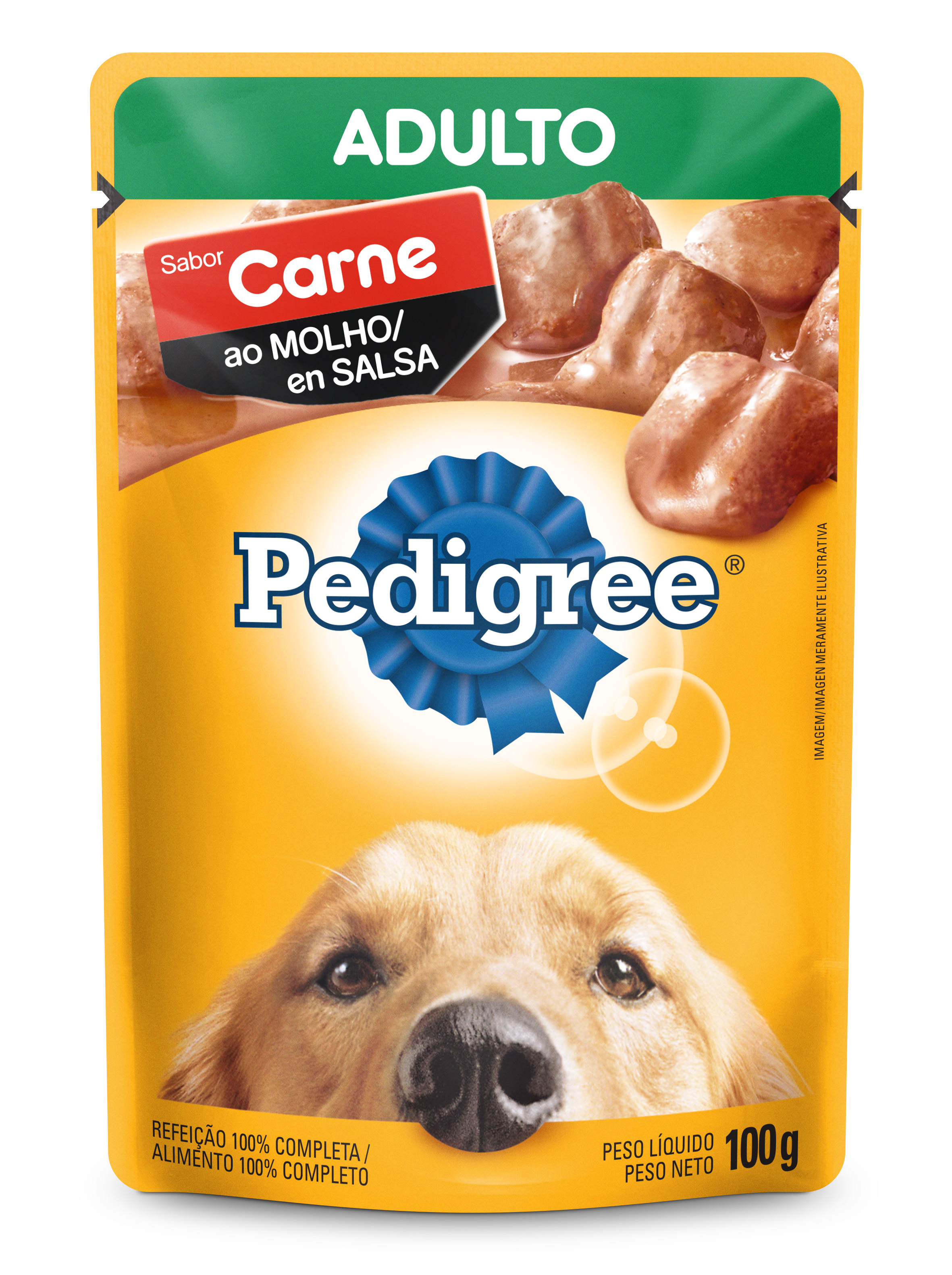 PEDIGREE SACHE ADULTO CARNE MOLH 100G(36