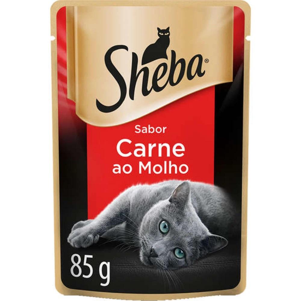 SHEBA SCH AD CARNE AO MOLHO 1X85G(40)