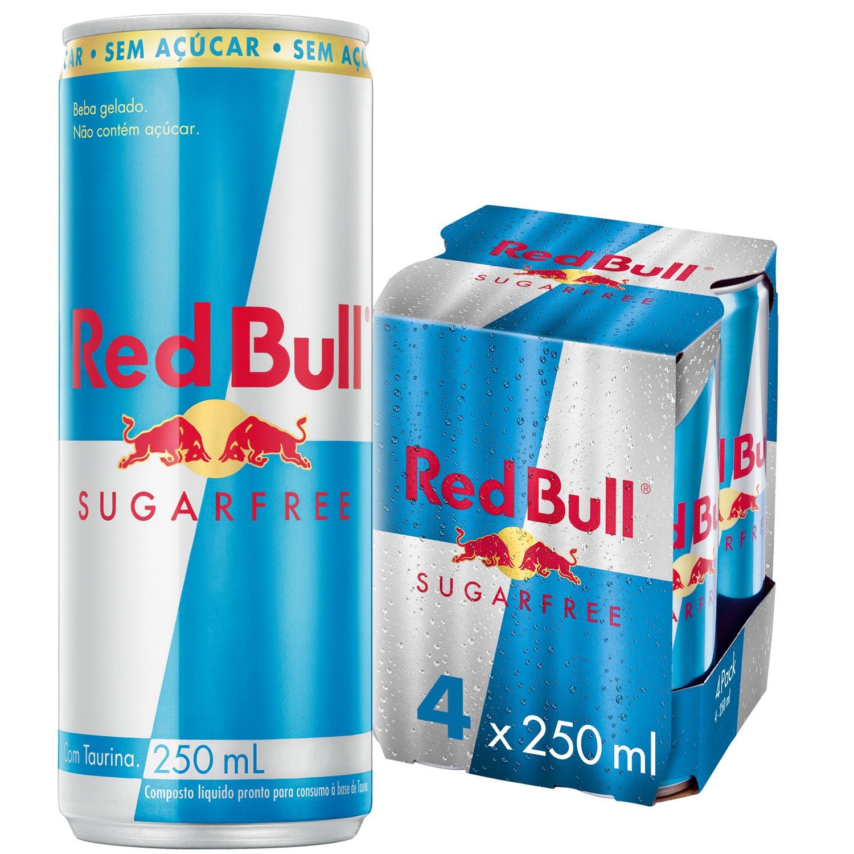 ENERGÉTICO RED BULL ENERGY DRINK SEM AÇÚCAR 250 ML (4LT)