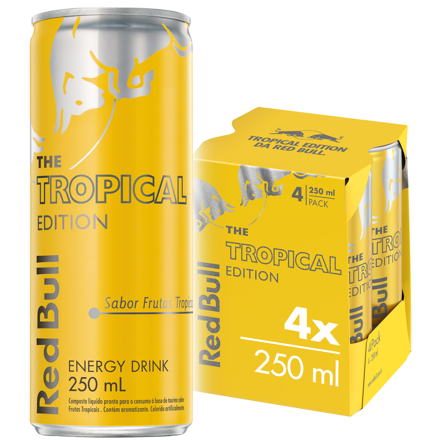 ENERGÉTICO RED BULL ENERGY DRINK TROPICAL 250 ML (4LT)