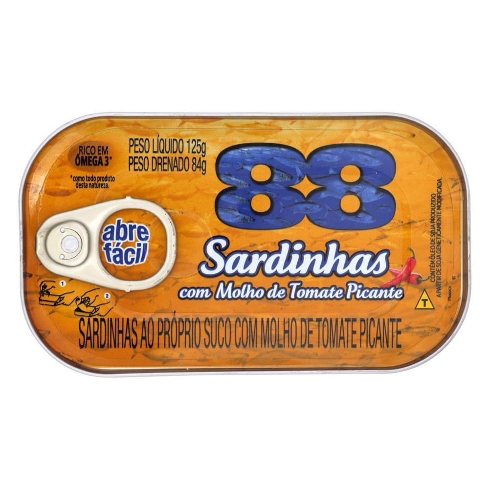 SARDINHA 88 TOMATE PICANTE1X125(50)