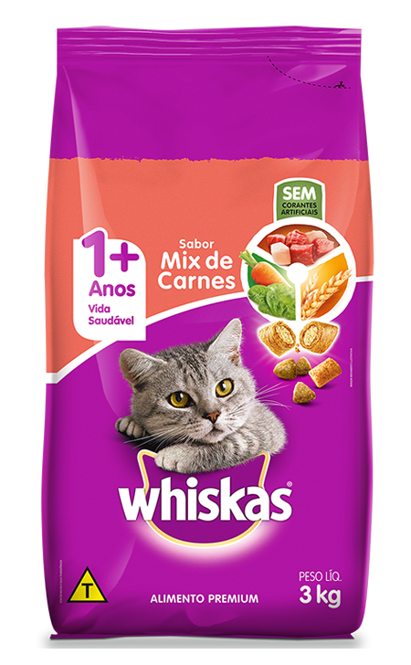 WHISKAS ADULTO MIX DE CARNES 1X3KG(6)