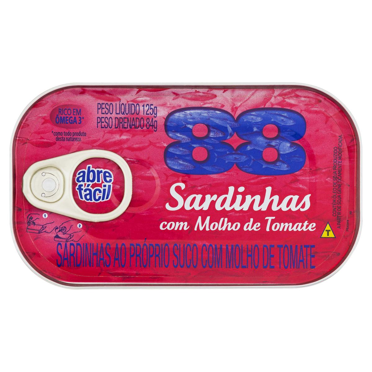 SARDINHA 88 TOMATE 1X125 GR(50)