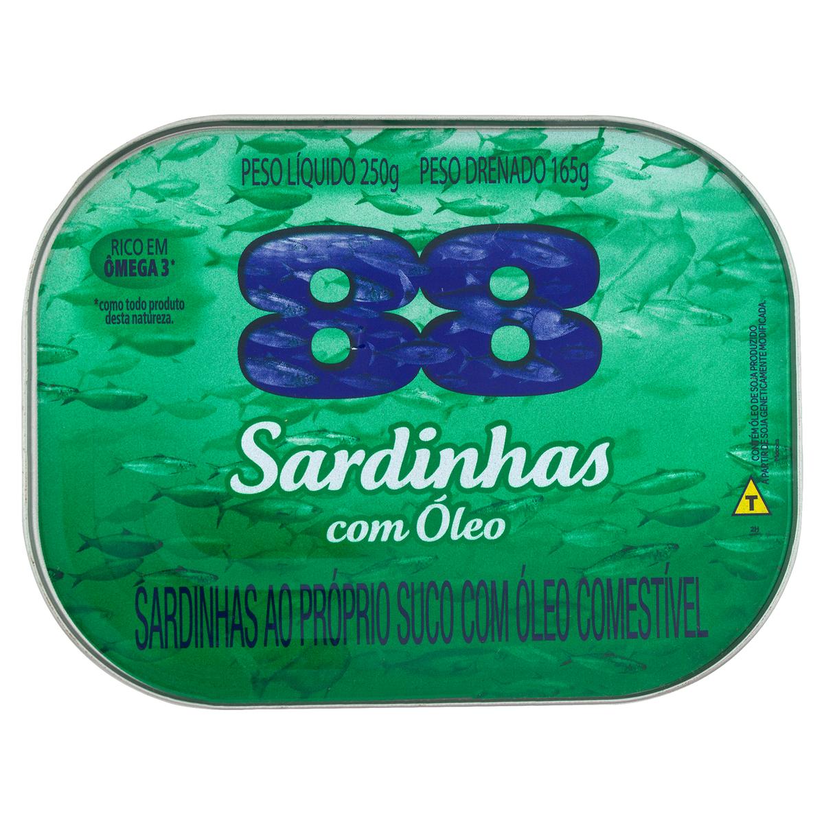 SARDINHA 88 OLEO COMEST 1X250(48)
