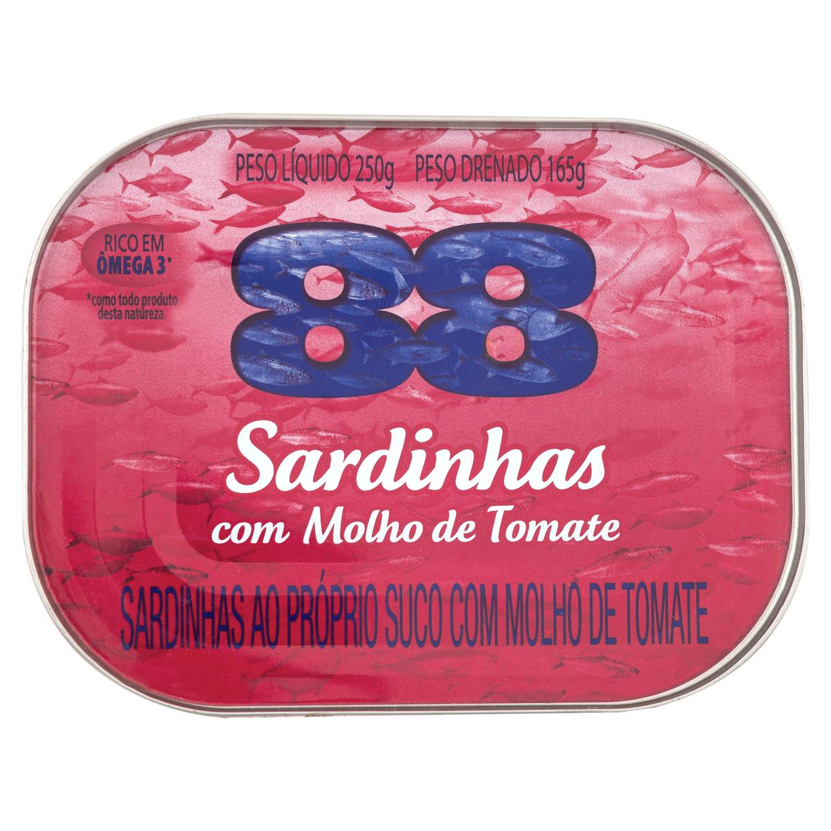 SARDINHA  88 MOLH DE TOMAT 1X250(48)