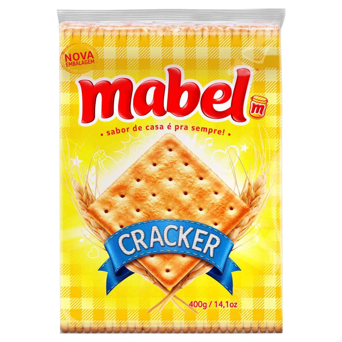 BISCOITO MABEL CREAM CRACKER 1X400G (20)