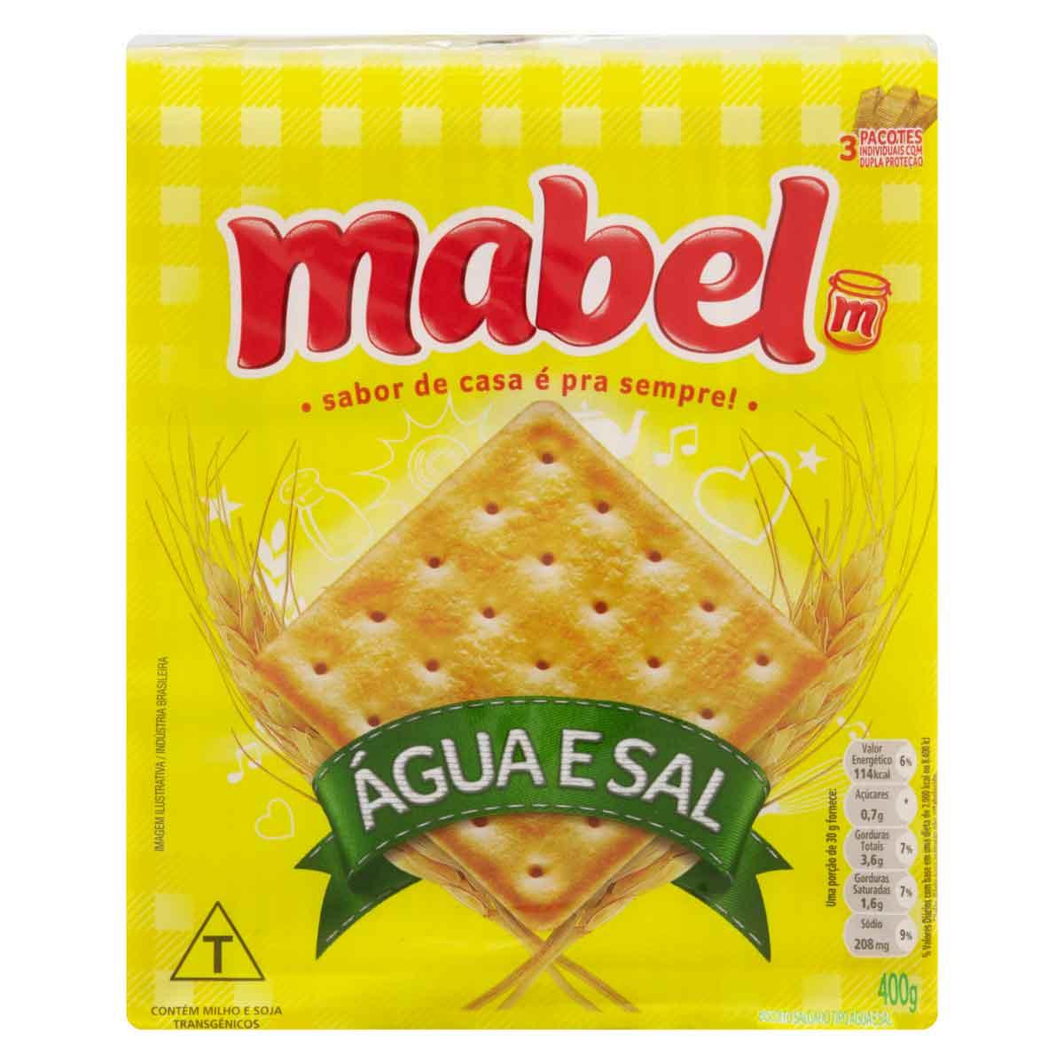 BISCOITO MABEL AGUA E SAL 1X400G (20)