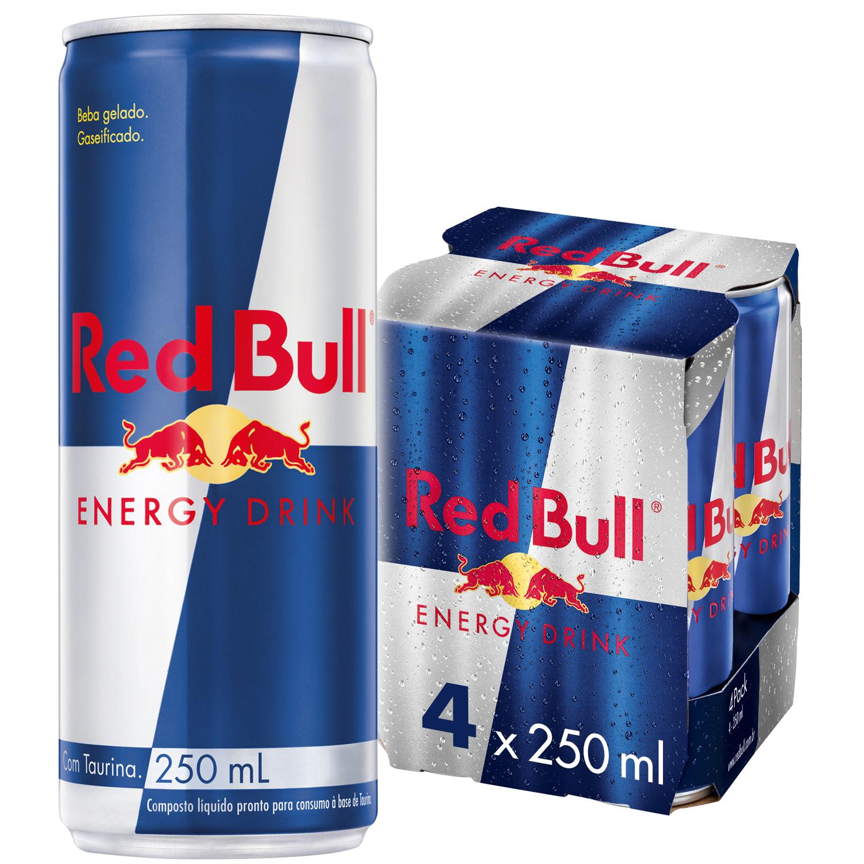 ENERGÉTICO RED BULL ENERGY DRINK 250 ML (4LT)