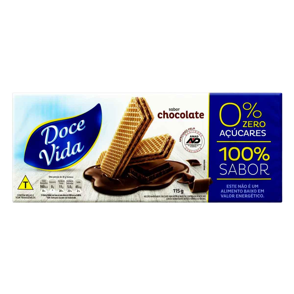WAFER BISCOITO DOCE VIDA CHO 1X115G (30)