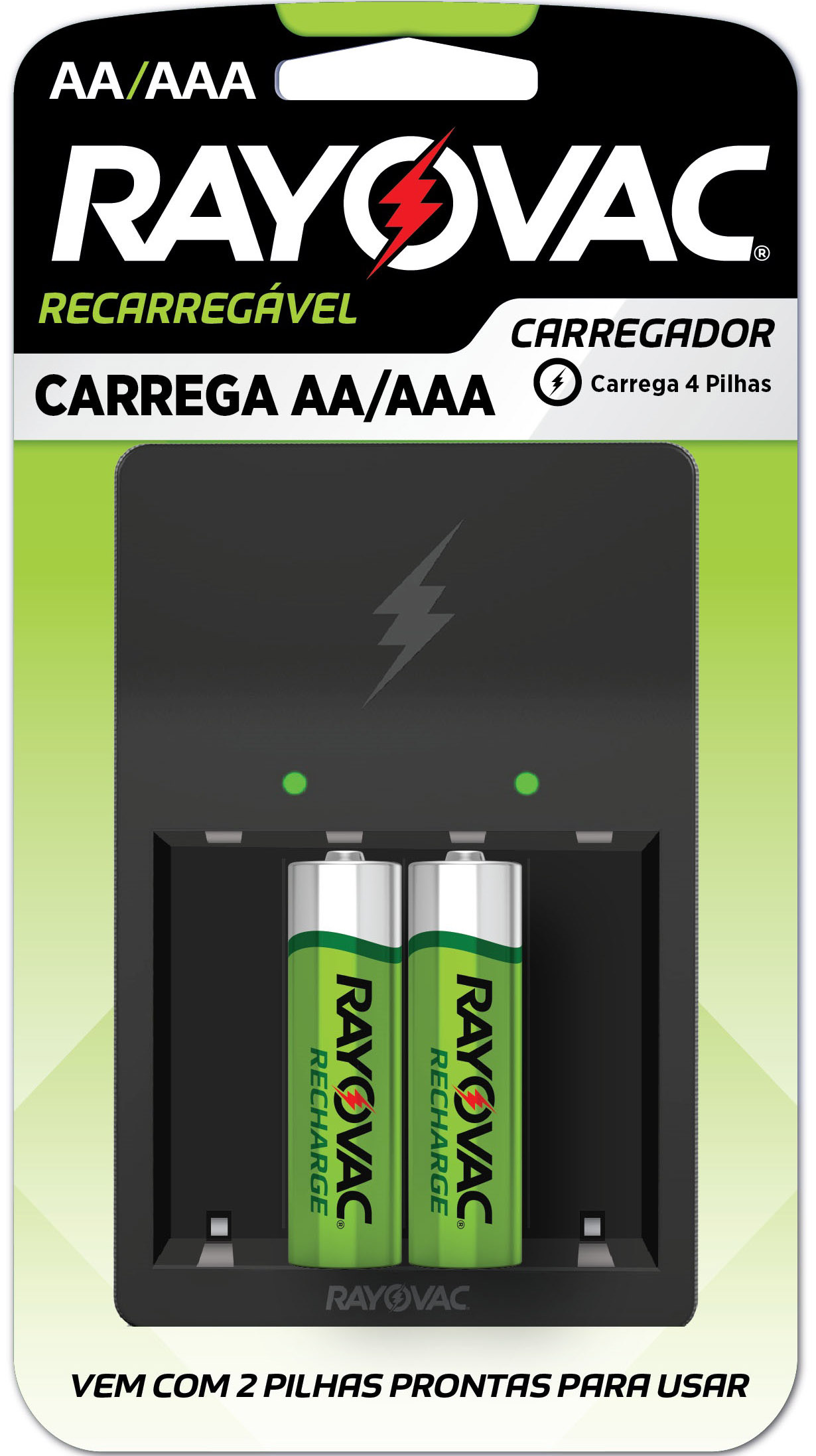 CARREGADOR RAY RECAREGAVEL AA/AAA 1UN(4)