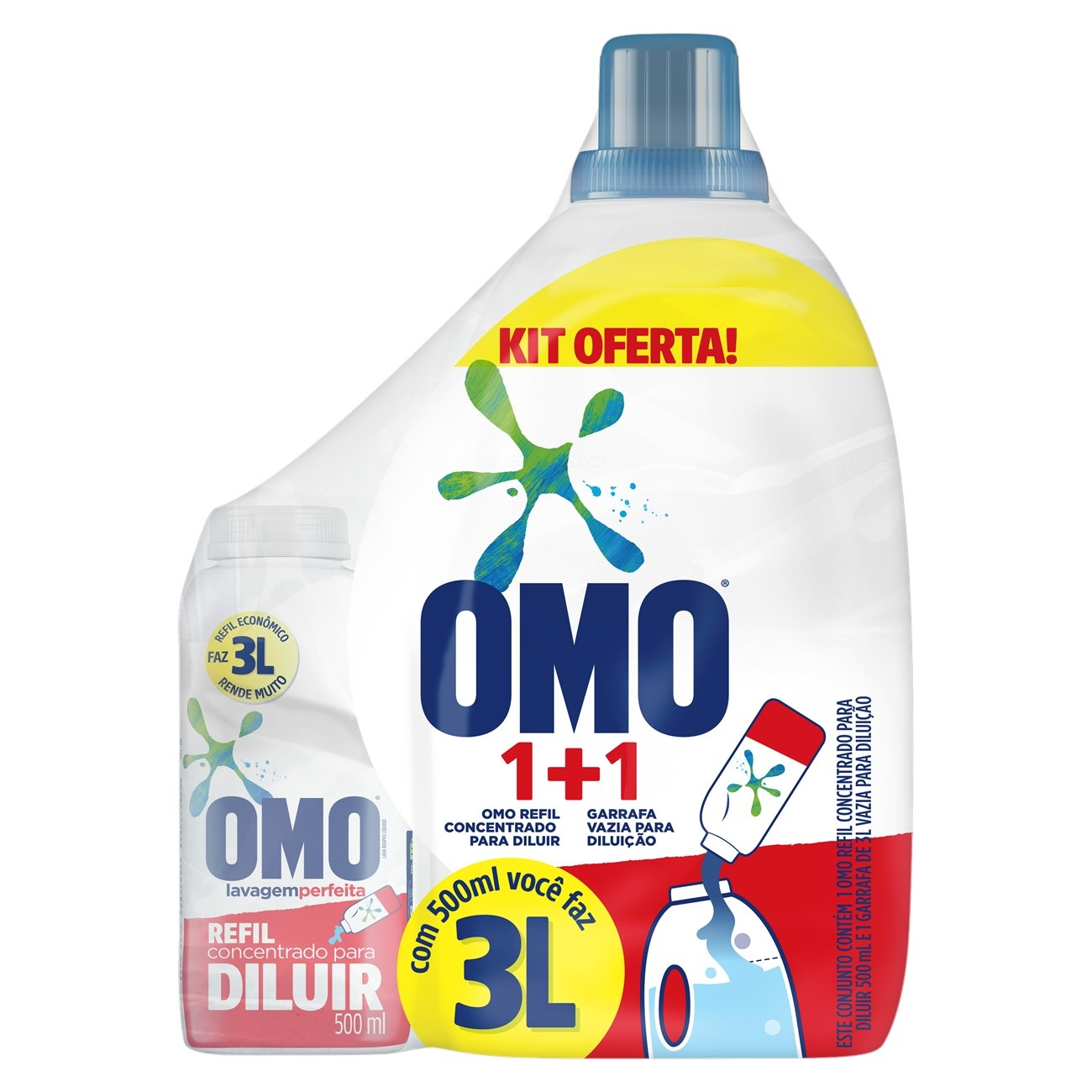 OMO LIQ CONC LAV PER+GF3LT GTS1X500ML(3)