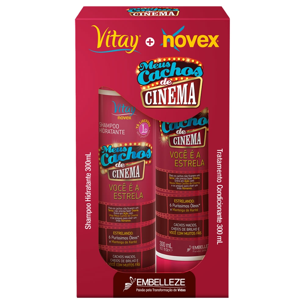KIT NOVEX  CACHOS DE CINEMA 300ML(6)