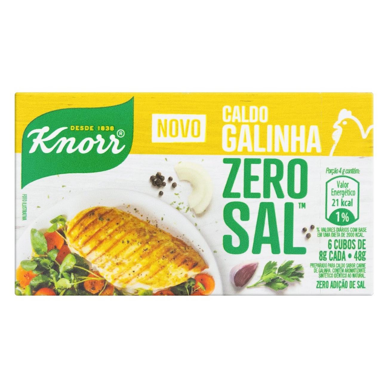 CX CALDO KNORR ZERO SAL GALINHA1X48G(160