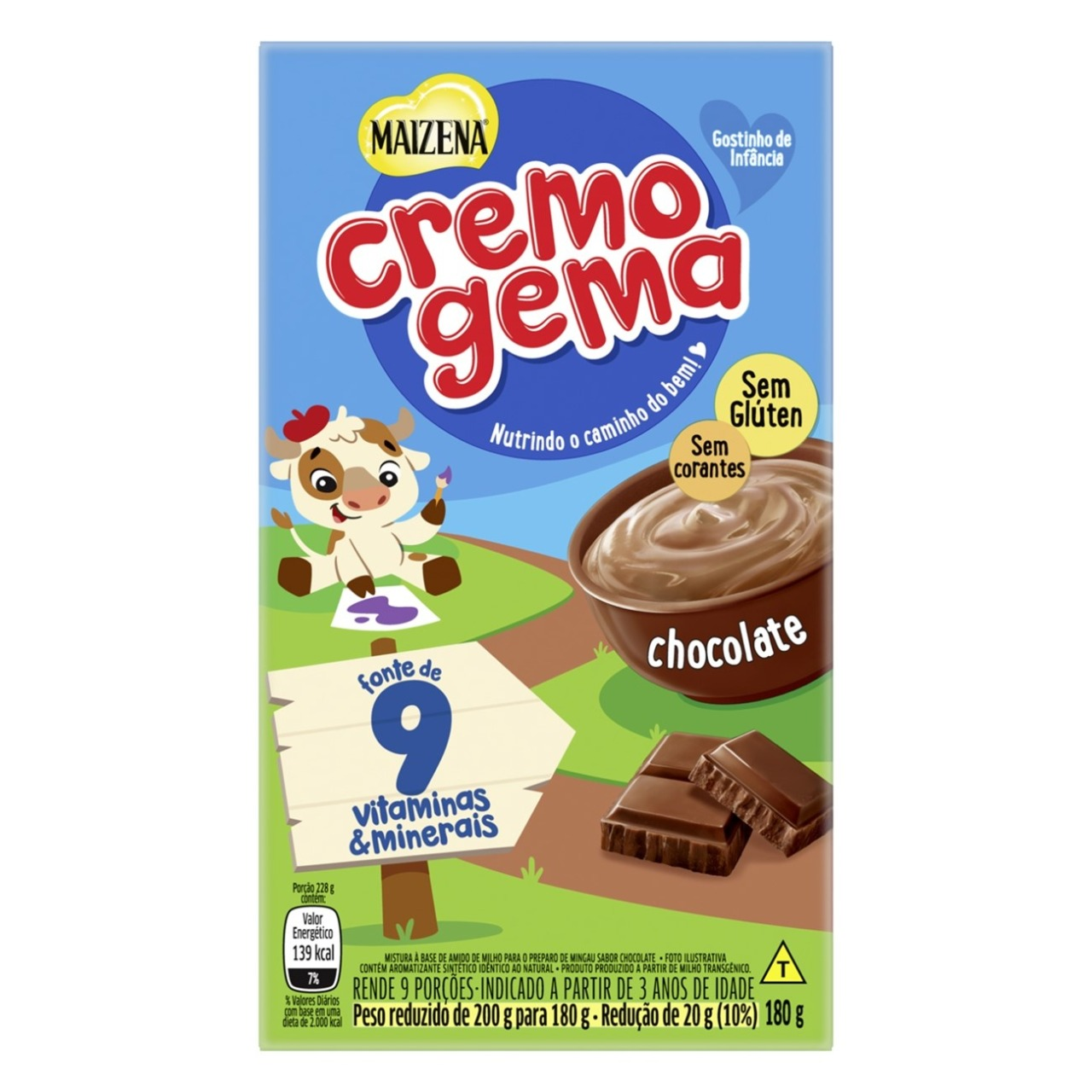 CREMOGEMA CHOCOLATE 1X180G (24)
