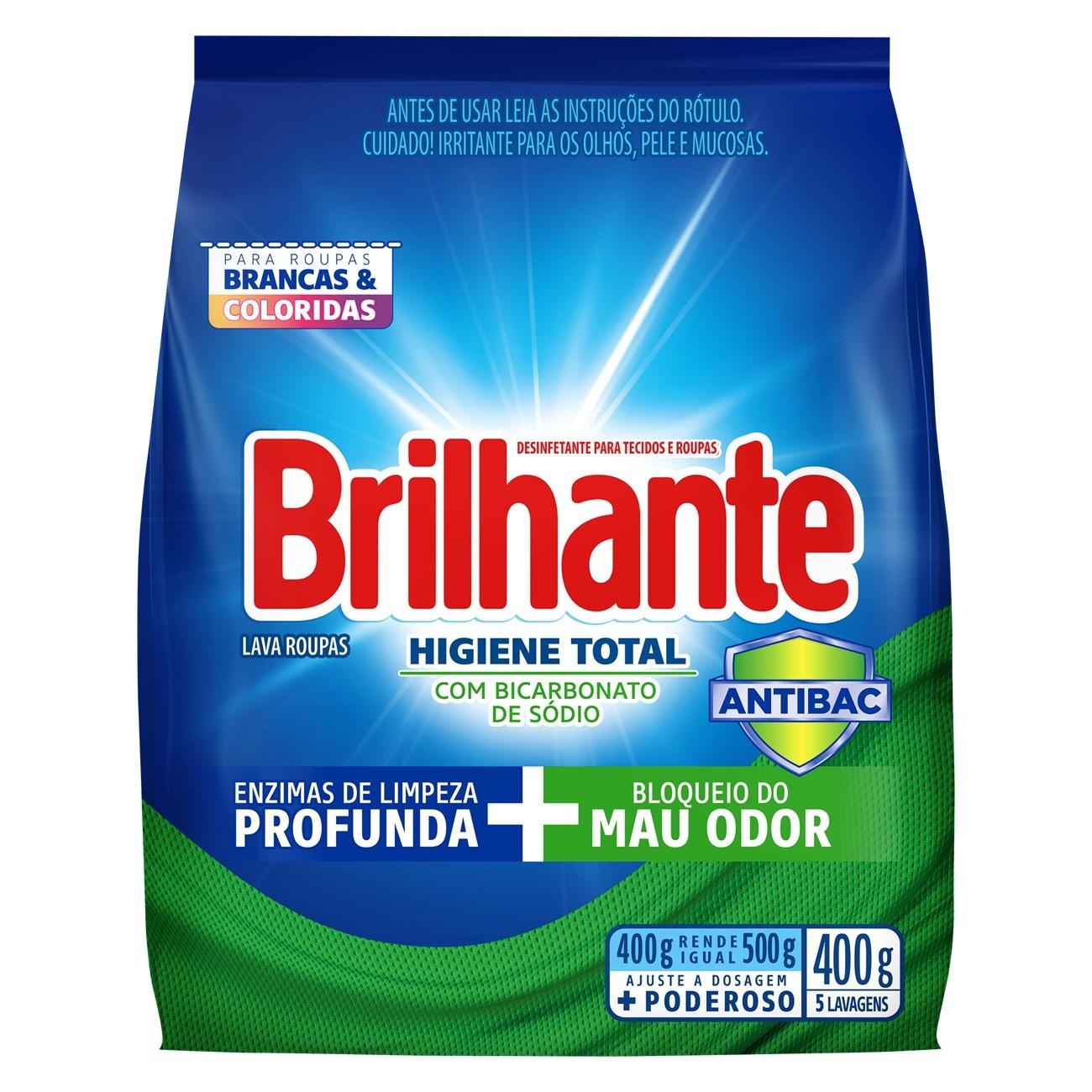 BRILHANTE PO HIG TOT ANTIBAC BAG 400G(27