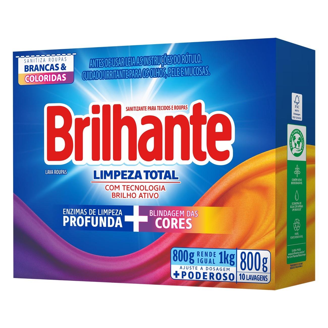 BRILHANTE PO LIMP TOT BRIL ATIVO 800G(20