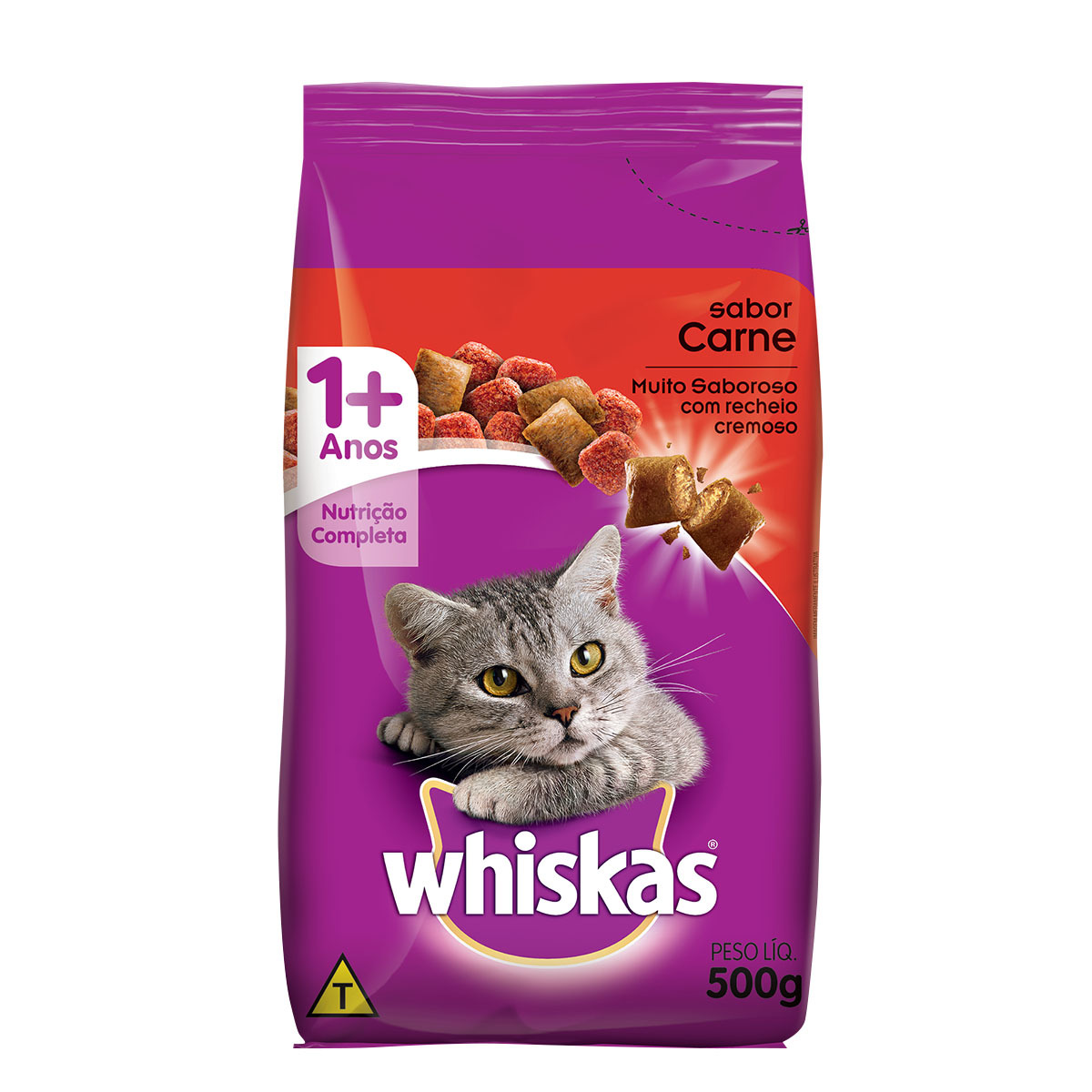 WHISKAS ADULTO CARNE 1X500G (20)