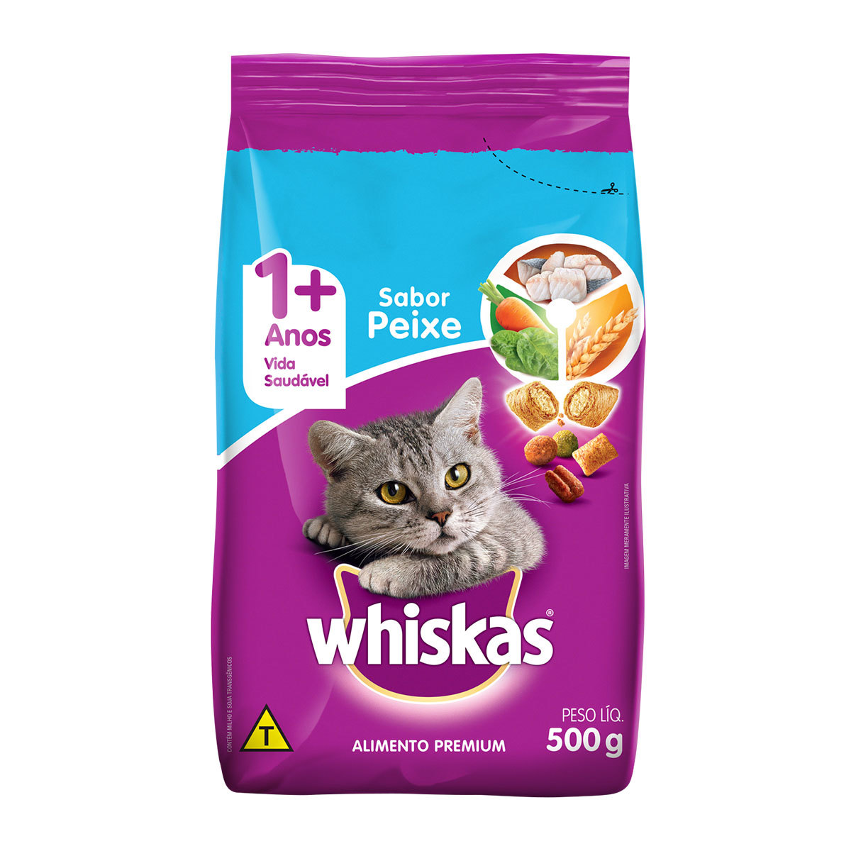WHISKAS ADULTO PEIXE 1X500G (20)
