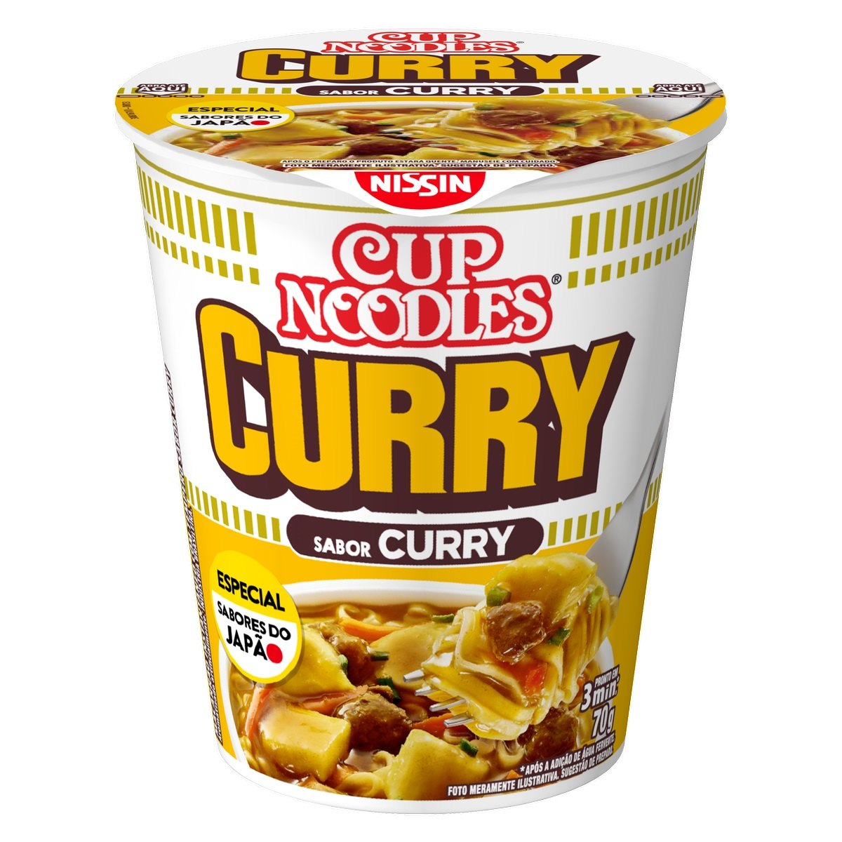 NISSIN CUP NOODLES CURRY 1X70G(24)