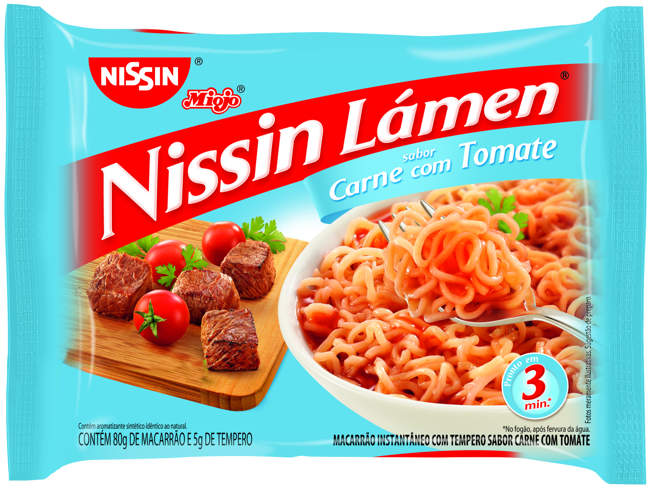 NISSIN LAMEN CARNE C/TOMATE 1X85G (50)