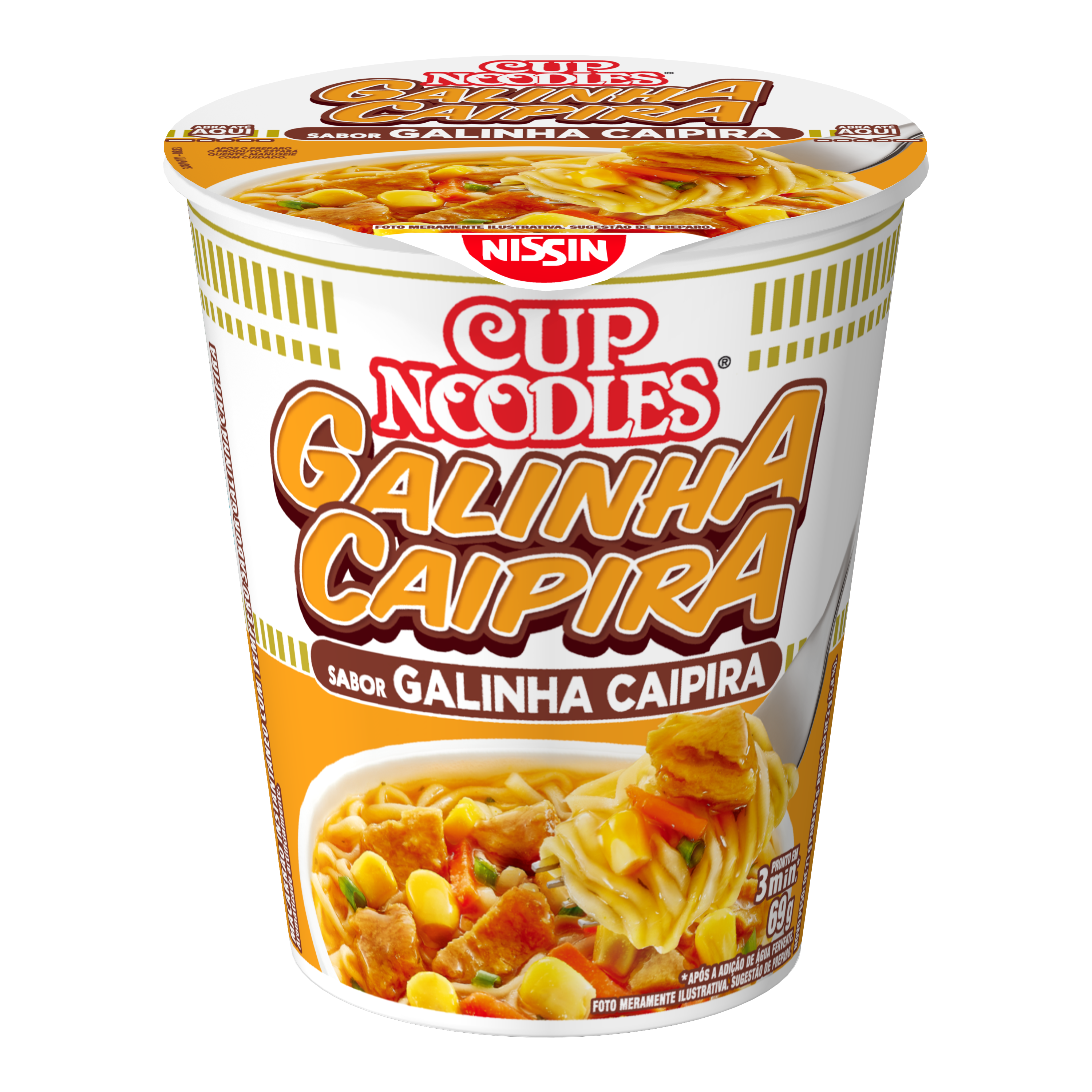 NISSIN CUP NOODLES GALINHA CAIP 1X69G(24