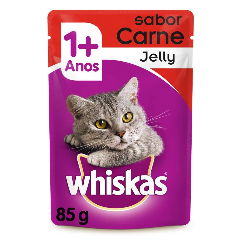 WHISKAS SACHE AD CARNE JELLY 1X85G(40)