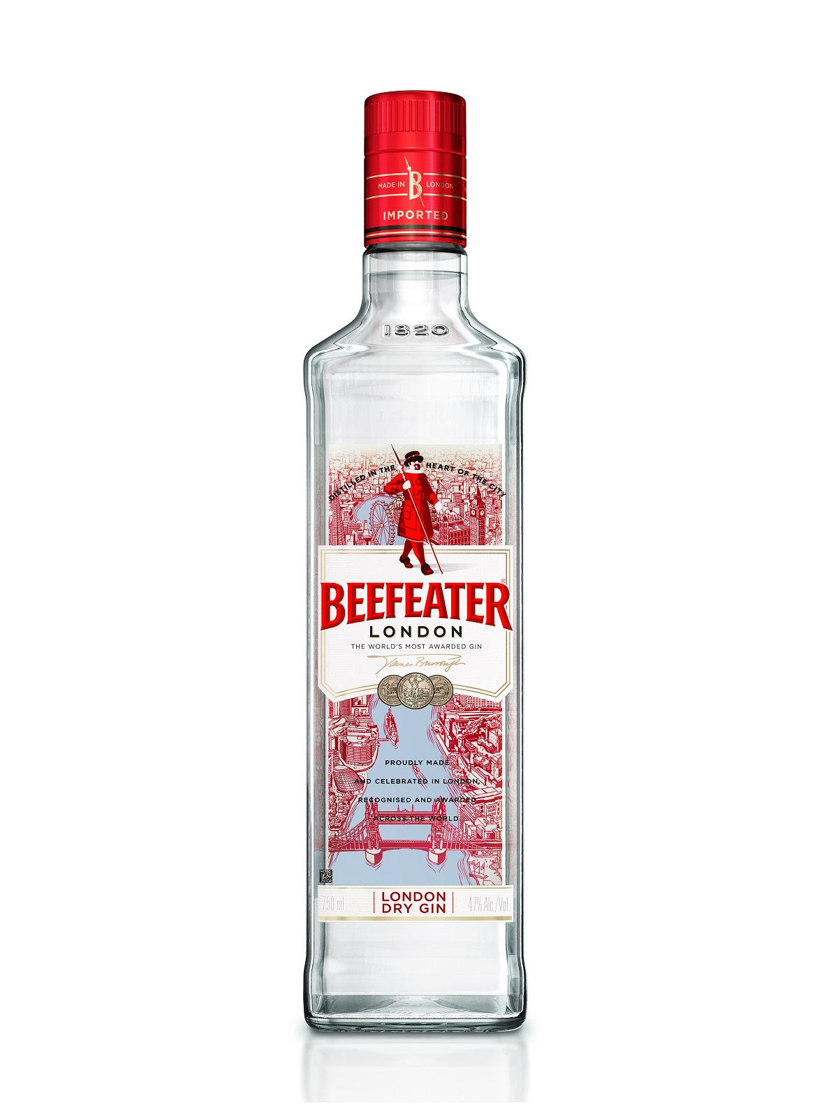 GIN BEEFEATER LONDON 1X750ML (12)