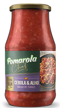 POMAROLA MOLHO TOMA ALHO&CEBO 1X420G(12)