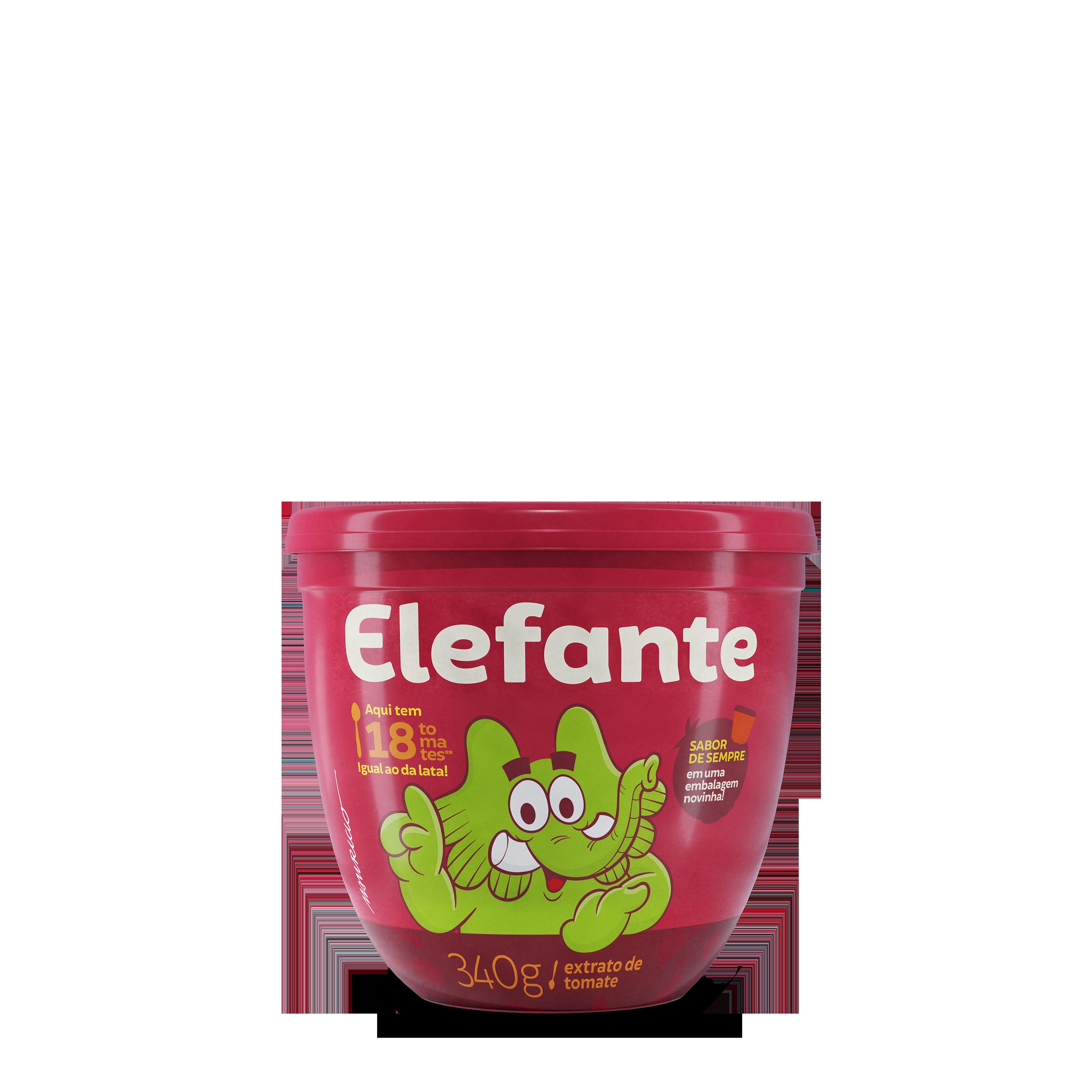 ELEFANTE EXTRATO TOMATE POTE 1X340G (24)